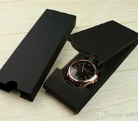 ingrosso scatola regalo sottile-Scatola ultra sottile all'ingrosso all'ingrosso Orologio nuovo modello nero Moda scatole regalo lusso doppio rettangolo di carta pieghevole antiurto custodia morbida