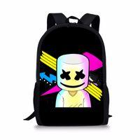 4787a4e4892e School Bags 3D Cartoon Marshmello School Bag Backpack for Girls Boys Preppy  Style Backpacks Children Book Bag supplies