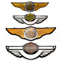 Cool 3D car stickers Motorcycle metal personality badge car logo emblem 100 105 110 anniversary Auto Funny styling Decals For Yamaha harle