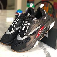mens butik toptan satış-B22 Eğitmenler Mens Teknik Örgü Dana Derisi Ayakkabı Homme Logo Moda Sneakers Womens Butikler Stil Lüks Marka Tasarımcı Ayakkabı Kutusu ile