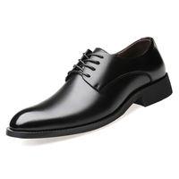 ingrosso consigli aziendali-Scarpe da uomo da uomo eleganti Scarpe derby traspiranti a punta 2018 Scarpe casual da uomo nero coreano da uomo