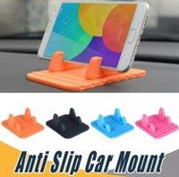 universal-silikon-gps-halter großhandel-Auto-Telefon-Halter-weiche Silikon-Mobiltelefon-Auto-Befestigungen Schreibtisch-Antibeleg-Matten-Standplatz-Klammer-Universal für Handys GPS-Geräte