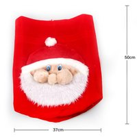 Wholesale Christmas Ornaments Personalize - Christmas Red Santa Claus Sack Gift Bag Personalized Pull flannel face Delivery bags New