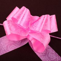 Wholesale wedding car ribbons for sale - Group buy 100pcs Wedding Party Car Sheer Garland Organza Pull Bows Gift Ribbon Butterfly Thighed Hand Flower Garlands Ribbons