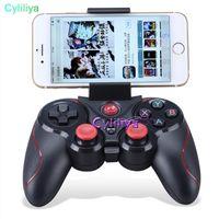 controlador inalámbrico para ipad al por mayor-DHL 20pcs S5 Controlador de juegos inalámbrico Bluetooth Gamepad Joystick para IOS iPhone iPad Android Teléfono inteligente Smart TV VR Box E-JYP
