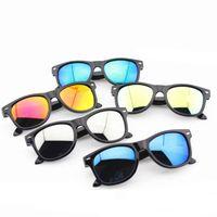 Wholesale Nails Boy - Boys Girls sunglasses Anti-UV Kids M nail Sun glasses Plastic Frame fashion children glasses 7 colors C3763
