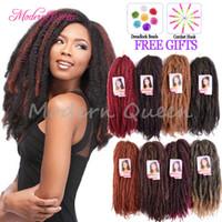 Wholesale kinky bulk hair wholesale for sale - 18inch Marley Braids Hair Crochet Braid Ombre Afro Kinky Curly Twist Kanekalon Synthetic Braiding Hair Crochet Braids Hair Extensions Bulk