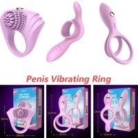 ingrosso nuovo anello del rubinetto vibrante-Leten New Enlargement Peins Vibrating Ring Ritardo Eiaculazione Cock Ring Clitoral Sex Vibratore per coppie Sex Toys for Men 3 Tipi Pces / lot