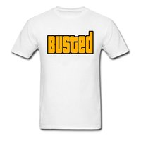 ingrosso grandi t-shirt bang-Busted Yellow Letter Print T-Shirts Mens Summer Clothes New Fashion Big Bang Maglietta per adulto Youth Man Tshirt XXXL