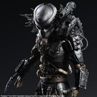 Wholesale predator toys - play arts kai Huong Movie Figure 27 CM Alien Hunter Primevil Play Arts Kai Generation 2 Predator PVC Action Figure Collectible Toy Model