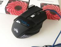novo fio óptico venda por atacado-2018 NOVO Profissional 5500 DPI Gaming Mouse 7 Botões LED Optical USB Ratos Com Fio para Pro Gamer Computador X3 Mouse