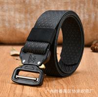 Wholesale military combat uniforms - Men's and women's tactical belt outdoor quick-drying combat uniforms belt young students military training belt wholesale