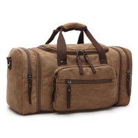 große segeltuchgepäckbeutel großhandel-2017 männer Reisetaschen Handgepäck Leinwand Duffle Taschen Reisetasche Handtasche Wochenende Große Big Bag Multifunktionale