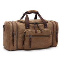 Wholesale Large Gray Handbag - 2017 Men Travel Bags Hand Luggage Canvas Duffle Bags Travel Handbag Weekend Large Big Bag Multifunctional