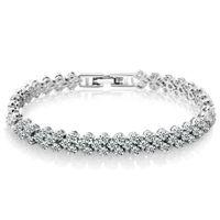 Wholesale crystal roman bracelets for sale - Group buy Crystal Diamond Bracelet Roman bracelet Wristband bangle Cuffs jewelry women bracelets bangles jewelry gift