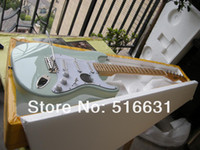 Wholesale guitar stock for sale - Group buy high quality st electric guitar in Light green big headstock In stock