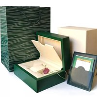 Wholesale wood gifts online - 2019 new Watch Green Original box Papers Mens Gift Watches Boxes Leather bag Card KG For Rolex Watch Box
