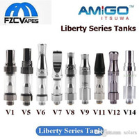 Wholesale Liberty Glasses - 100% Original Itsuwa Amigo Liberty Tank V1 V5 V6 V7 V8 V9 V10 V11 V12 V14 Glass Cartridge 0.5ml Ceramic Coil Authentic
