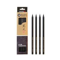 mekanik kalem ücretsiz gönderim toptan satış-Yüksek Kalite 12 adet / takım Yaratıcı Siyah Ahşap Kalemler 2B Eskiz Boyama Çizim Sanat Öğrenci Okul Ofis Malzemeleri için Kalem