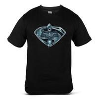 chemises superman super achat en gros de-Justice League Of America Superman Green Lanterne Super Tee shirt Homme 2018 à la mode Marque 100% coton Imprimé Col Rond