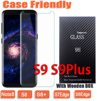 Wholesale Wooden Box Wholesale - s9 s9 plus Case Friendly 3D Curved Tempered Glass Phone Screen Protecto For Samsung S6Edge S7Edge S8 S8Plus NOTE8 NOTE 8 wooden box
