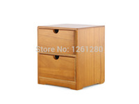 Wholesale wooden storage drawers - free shipping Wooden tool box desk storage drawer debris cosmetic storage box bin jewelry case office Creative gift Home