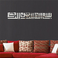 Wholesale Wall Decal Geometric - Geometric Waist 3D Mirror Wall Sticker For Ceiling Living Room Bedroom Acrylic Mural Wall Decals Modern DIY Home Decor