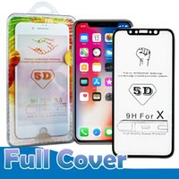 Wholesale 4d Glasses - 5D Curved Tempered Glass For Iphone X 10 7 8 6 Plus 9H Screen Protector Better 3D 4D Edge High Quality With Package