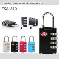 Wholesale product combinations for sale - Newest Optional TSA Customs locks Digit Code Combination Lock Resettable Travel Luggage Padlock Suitcase High Security Home product I404