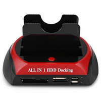 Al por mayor-All-One HDD Docking Station con ranura para lector de tarjetas múltiples para HDD recinto 2.5 / 3.5 pulgadas SATA / IDE Hard Drive Docking Station