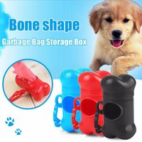 Wholesale pet bag bone - Garbage Clean Storage Box Pet Dog Bags Plastic Bone Type Degradable Pick Up Waste Poop Bag Doggy Scoopers garbage box MMA202