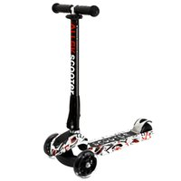 altura del flash al por mayor-Scooter de 3 ruedas de altura ajustable PU ruedas intermitentes Kick Scooter con patentado sistema plegable para niños de 3-17 años de edad