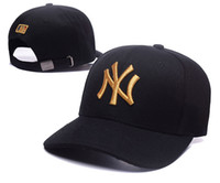 Wholesale Hop Dance - 2018 Baseball Cap NY Embroidery Letter Sun Hats Adjustable Snapback Hip Hop Dance Hat Summer Outdoor Men Women White Black Navy Blue Visor
