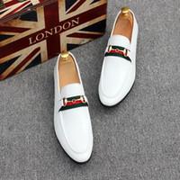 han nefes alabilen ayakkabılar toptan satış-Doudou erkek örgü moda trendi rahat erkek ayakkabı hakiki deri han versiyonu nefes sürüş ayakkabı ... lSize 37-44Free nakliye.