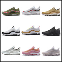 Wholesale Cushion Casual Shoes For Men - 97 OG Bullet Running Shoes 2018 For Men Casual Sneakers Women Air Cushion Sports Shoes Undefeated Athletic Sneakers US 5.5-13