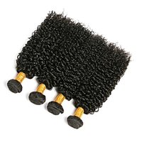 işlenmemiş brazilian kıvırcık saç 6a toptan satış-Brezilyalı Sapıkça Kıvırcık Siyah Renk Saç Uzantıları 10-30
