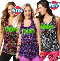 Wholesale Loose Yoga Tops - woman dance tops yoga vest La Pachanga Loose Tank racerback black purple