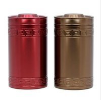 Wholesale M Container - Creative Alloy Round Tea Pot 60*107mm Storage Tin Box Storage Case Metal Coffee Tea Candy Box Cylinder Container 2 Colors OOA4015