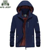 Wholesale military jacket liner - Afs Jeep Brand Winter Jacket Men Outwear Coat For Men Army Military Wool Liner Fleece Jackets Windbreaker Plus Size M-4XL Coats