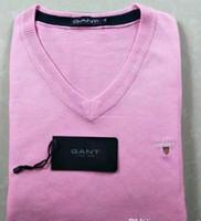 ingrosso maglioni mens di alta qualità-Trasporto libero 2018 nuovi uomini di marca maglione di lana autunno inverno con scollo av Kintwear pullover mens maglioni di alta qualità