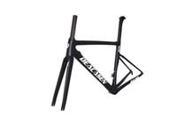 Wholesale 58cm frame online - T800 Super light Cheap Di2 mechanical frame bicycle frameset cm aero carbon road frame