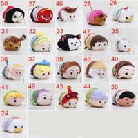 Wholesale Wholesale Mermaid Dolls - 10pcs lot Tsum Tsum Mini plush doll toy mini princess The Little Mermaid princess plush keychain pendant