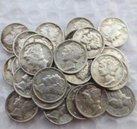 Wholesale manufacturing coins for sale - Group buy Replica Mercury Head Dimes A Set Of D Mixed Date Sign Silver Plated Manufacturing Copy Coins
