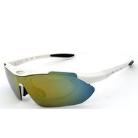 conjuntos de quadros de bicicletas venda por atacado-Ciclismo Óculos Polarizados Esporte Ao Ar Livre Bicicleta Eyewear MTB Mountain Bicicleta Goggle Motocicleta Óculos De Sol 1 frame 5 lens / set