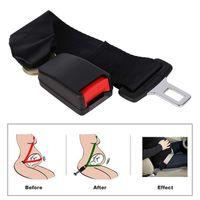 Wholesale wholesale safety buckles - Universal 36cm Adjustable Car Auto Safety Seat Belt Clip Seatbelt Extension Extender Strap Buckle For Pregnant Women