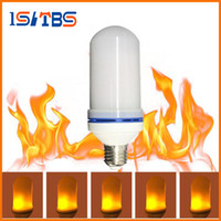 Wholesale Cree Fire - LED Flame Effect Fire Light Bulb E27 LED Flickering Lamp Beads Simulated Decorative Light Atmosphere Lighting Vintage Flaming Upwards