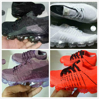 Wholesale child knitting - New baby children boy girl vapormax runner Casual Shoes boys girls vapormaxes trainers knit sneaker Air cushion kids shoes Size:28-35