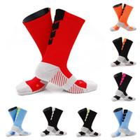 Wholesale compression short soccer online - 10 Styles Sports Compression Socks For Women Men Short Tube Pressure Running Socks Antiskid Basketball Socks Free DHL G465Q
