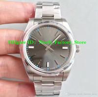 en iyi i̇sviçre saatleri toptan satış-3 Stil Best Edition İzle Perpetual 39mm 114300 Paslanmaz Çelik İsviçre CAL.3132 Hareketi Otomatik Mens Watch Saatler Yeni Kutusu