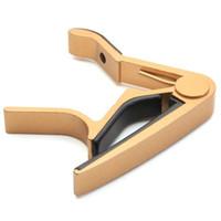 gitar için kelepçeler toptan satış-Akustik Elektrik Klasik Gitar için Kelepçe Anahtar Tetik Capo (Altın)